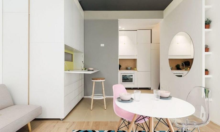 Този мултифункционален апартамент от 29.5 кв.м. ни скри шапката просто, толкова идеен, че оставяте без думи (снимки)